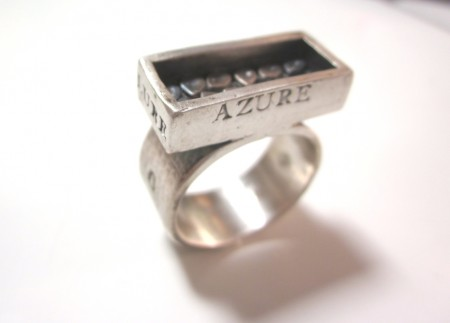 Azure Shadow Box Ring by Patrik Kusek