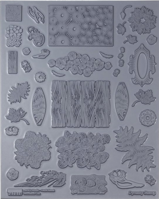 ... Woodland Chic Texture Sheet – metal clay, polymer clay, mixed media